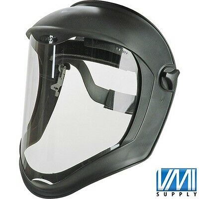 UVEX S8500 Bionic Face Shield Clear Black Uncoated Polycarbonate Visor NEW