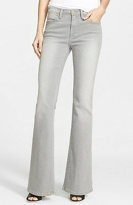 New Frame Denim Le High Flare High Waist Jeans in Hardy Grey wash $220 Retail