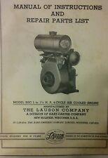 Lauson Rsc Engine Owner Parts Amp Service Repair Manual Lawn Mower Jari Generato