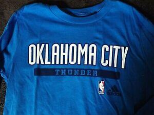 sale retailer 58266 7b881 Details about New, Oklahoma City Thunder Youth M 10/12 Long Sleeve T-Shirt,  Adidas, NBA, OKC