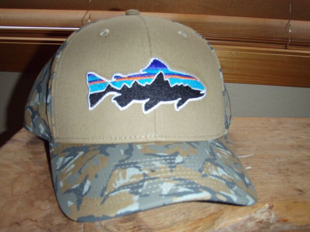 c85d3328ec Patagonia Fitz Roy Trout Camo Fatigue Green Roger That Hat Fly Fishing  Hunting