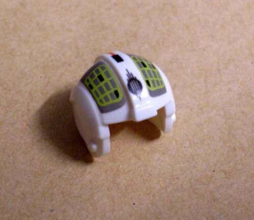 Lego Helm für Star Wars Rebel Pilot Figur Piloten Fliegerhelm weiss gelb Neu