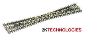 PECO SL-394 Long Crossover 187mm Code 80 Insulfrog Rail 'N' Gauge Tracked48 Post