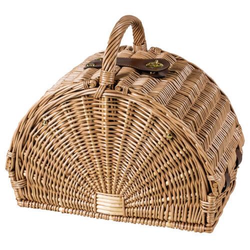 Luxus Ausstattung Edler halbrunder Picknickkorb für 2 Personen