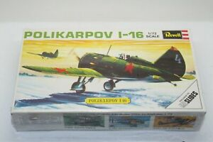 WW2-RUSSIAN-SEALED-REVELL-1-72-SCALE-POLIKARPOV-I-16-MODEL-PLANE-KIT-H-635