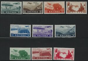 Italy Eritrea - 1936 - Scott # C7 thru C16 - Complete Set - Mint Hinged