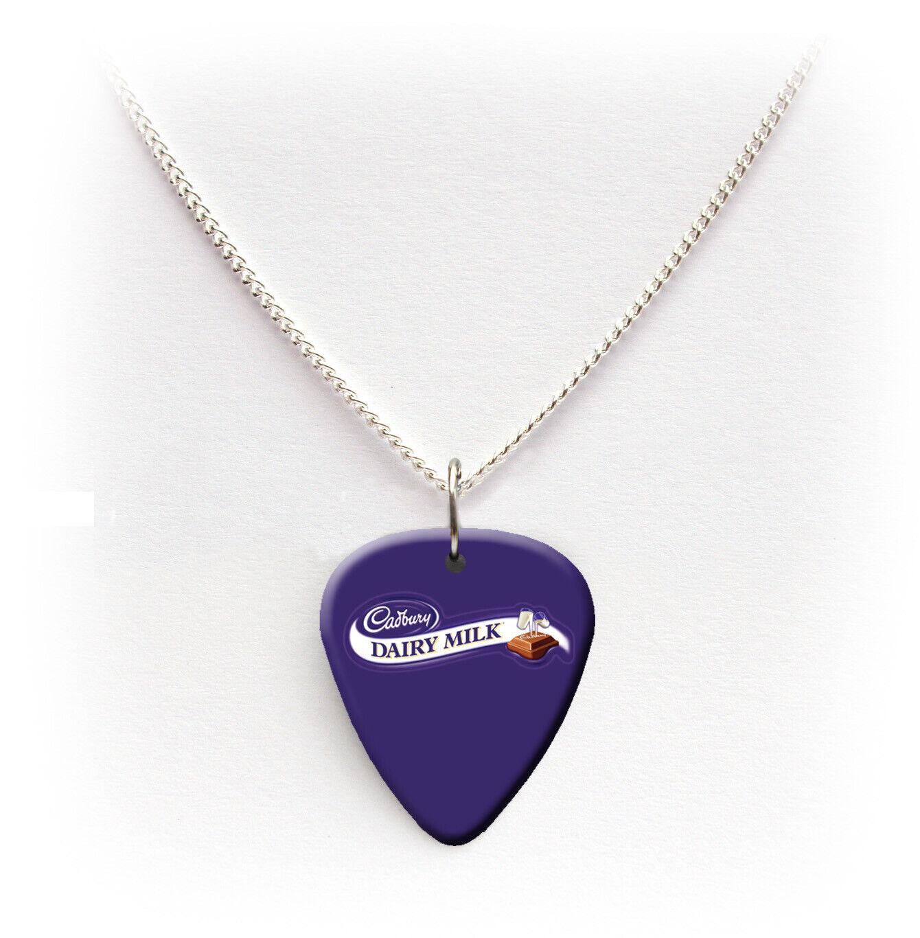 Milk Chocolate Guitar Pick Plectrum Necklace Bracelet Keyring Badge Earrings
