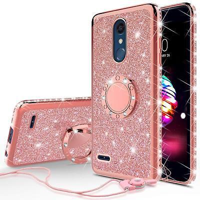 official photos 21ad4 71f7b LG K30/LG Premier Pro LTE Cute Glitter Bling Phone Case for Girl Ring  Kickstand | eBay