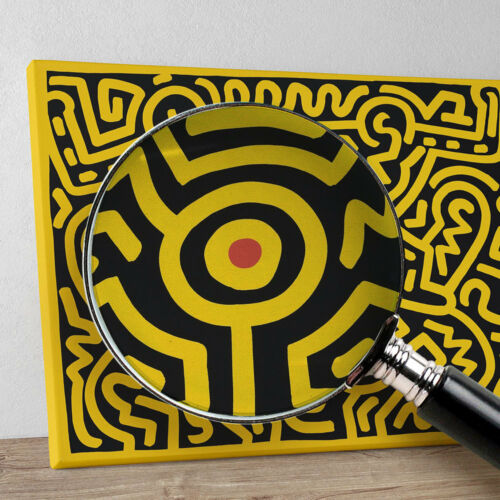 """from Keith Haring /""""Plate IV Growing Suite/"""" Stampa HR su tela Canvas Quadro"""