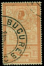 ROMANIA #171a 2l orange, King Carol I and Post Office, used, VF, Scott $150.00
