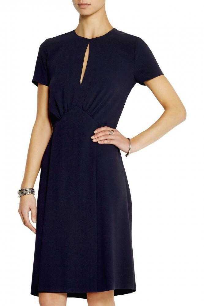 Joseph Crepe Dress Cleo Dark bluee Sz 10UK