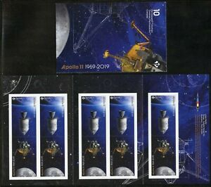 CANADA-2019-APOLLO-11-50-YEARS-COMPLETE-BOOKLET-MINT-NEVE-HINGED