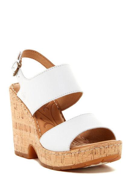 NEW Born Annaleigh Bianco bianca Cork Platform Sandal D96901 Wouomo Sz 9 10  110