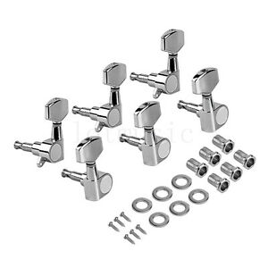 electric guitar tuning pegs tuners machine heads for acoustic parts 3l3r chrome 634458747905 ebay. Black Bedroom Furniture Sets. Home Design Ideas