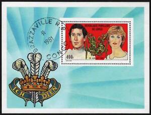 Congo-Republic-1981-Royal-Wedding-Charles-amp-Diana-VF-Precancel-Stamp-Sheet