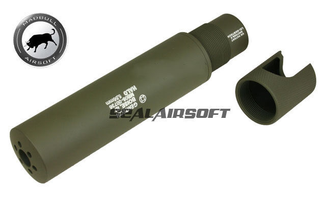 Madbull Gemtech Halo Airsoft Toy Barrel Dummy Extension(2011 Version Olive Drab)