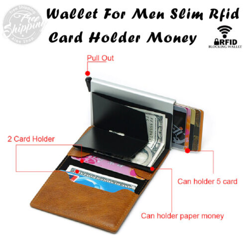 Wallet For Men Slim Rfid Card Holder Money Bag Mini Wallets The Best GIFT