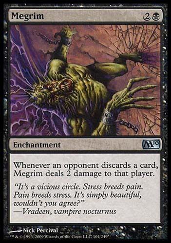 1x Megrim M10 MtG Magic Black Uncommon 1 x1 Card Cards