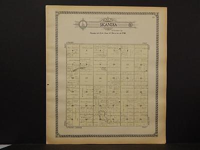North Dakota, Barnes County Map, c1909, Skandia Township ...