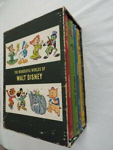 VTG 1965 THE WONDERFUL WORDS OF WALT DISNEY 4 BOOKS SET-GOLDEN PRESS NY