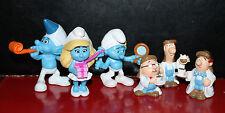Trabajo un montón de MacDonald Smurf Figuras + Tetley Tea figuras (6)