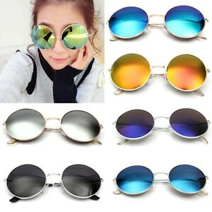 eff071309c Retro Vintage Men Women Big Round Metal Frame Sunglasses Glasses Eyewear  Fashion