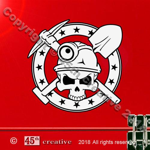 Miners Skull Crossbones Decal miner skull /& bones decal coal mine mining sticker