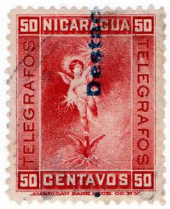 I-B-Nicaragua-Telegraphs-50c-Red-1900