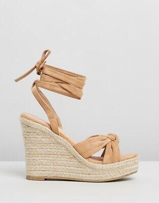Billini Shoes Salome Camel Suede Rope Wedge Ladies Size 8 NEW BNIB | eBay