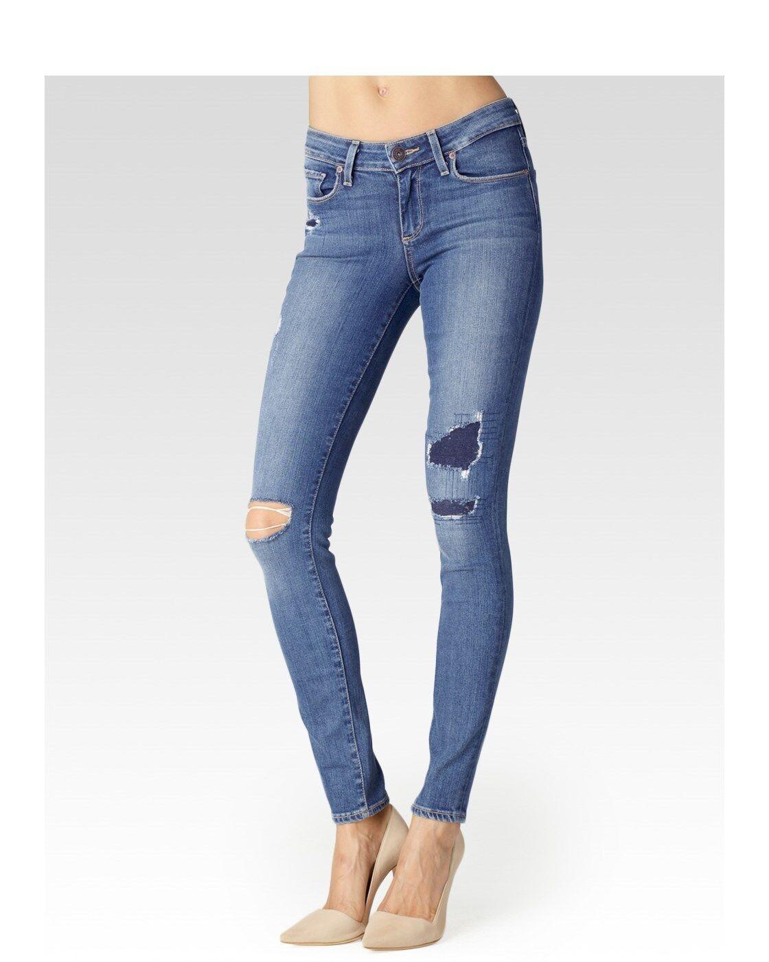 PAIGE Denim Verdugo Ultra Skinny Stretch Esme Destructed Jeans Sz 25  259 RARE