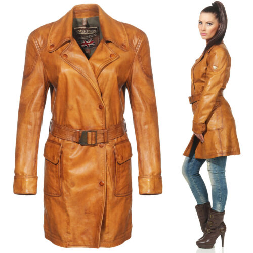 Cuero e S Matchless Gr Trench 42 Leder Mantel Inverness Damen 123017 XvF18vx