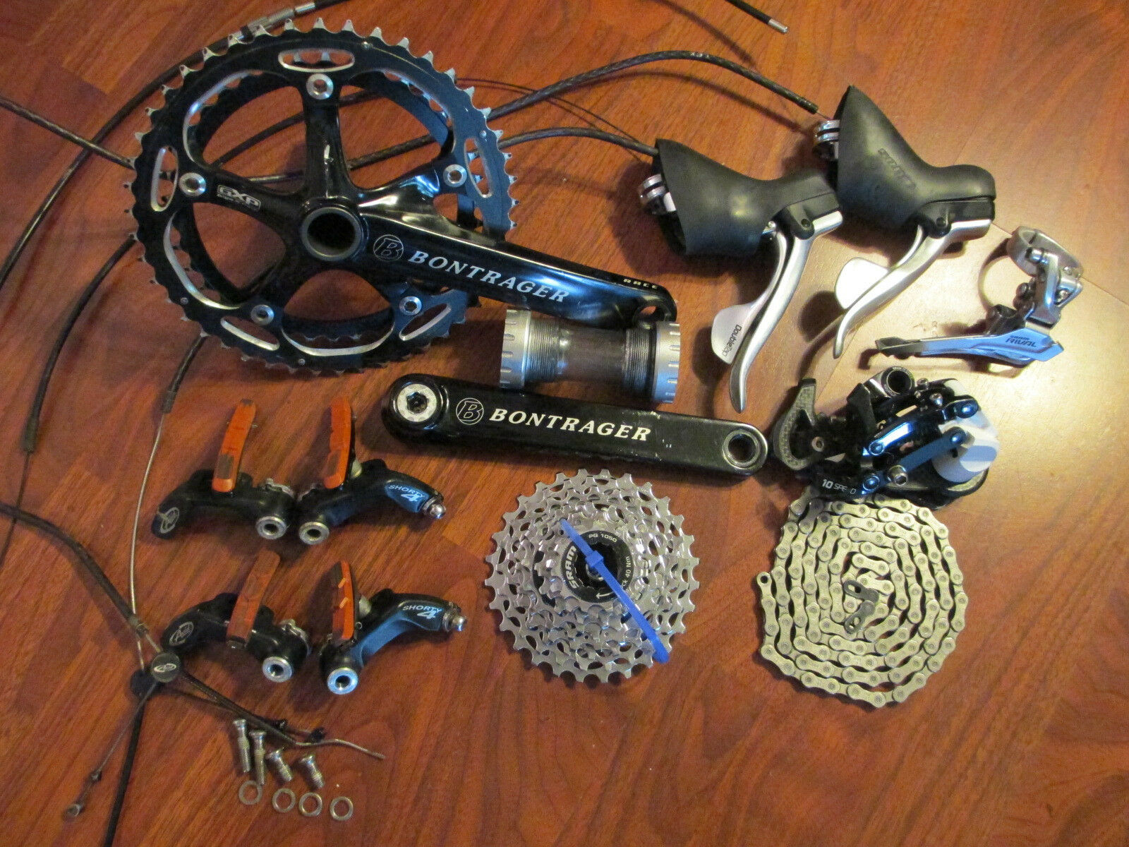 SRAM RIVAL 10 SPEED  175 46 38 CYCLOCROSS CX  CANTILEVER BRAKE GROUP BUILD KIT  manufacturers direct supply