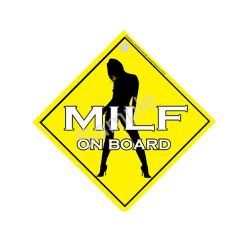 FREE UK POSTAGE Window Sign PGS170WS MILF On Board