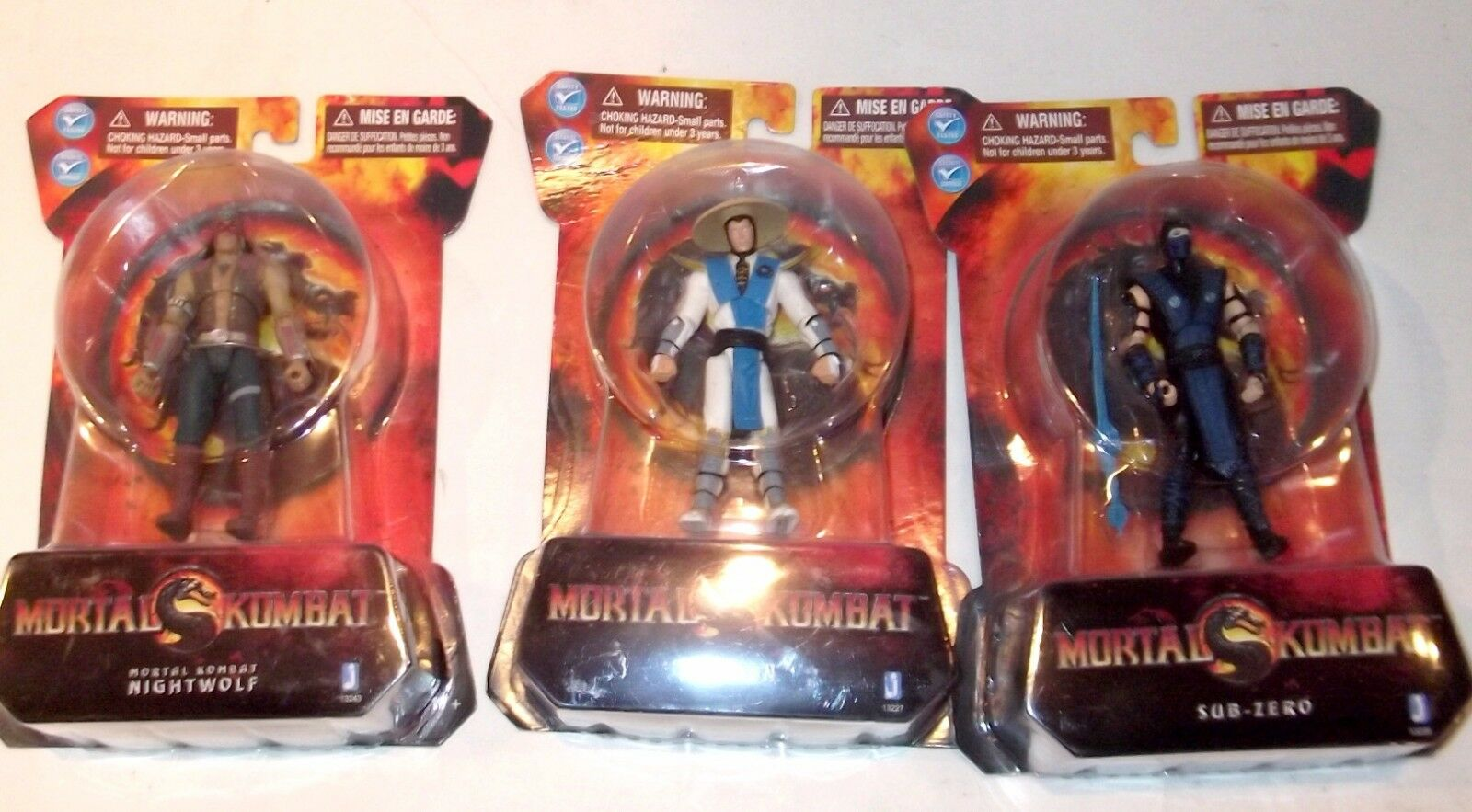 LOT SCARCE Mortal Kombat ✰ Nightwolf ✰ Raiden ✰ Sub-Zero ✰ figure SEALED ✰ 4