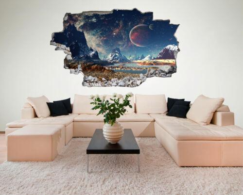 L/' espace l/'espace Galaxy base planète mural xxl sticker autocollant c230