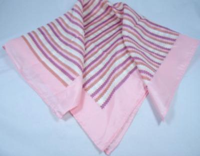 Glentex pink handkerchief neck wrap scarf purple mocha white zig zag lines New
