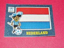 PANINI FOOTBALL 1978 ECUSSON JEAN DENIM NEDERLAND ARGENTINA 78 WC WM MUNDIAL