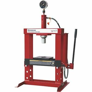 Strongway-Benchtop-10-Ton-Hydraulic-Shop-Press-with-Gauge