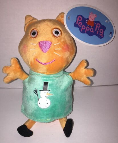 "New Peppa Pig Candy Cat in Snowman Shirt 8/"" Plush"