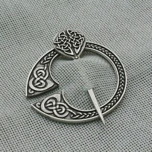 Medieval Cloak Viking Scottish Norse Knot Celtic Brooch Pin Clasp for Men Women
