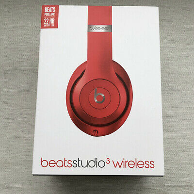 Beats By Dr Dre Studio 3 Wireless Bluetooth Over Ear Headphones Red Ebay