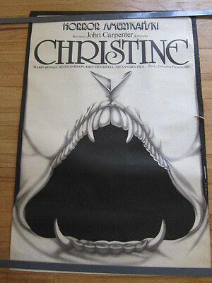 CHRISTINE Original 1983 Polish Poster John Carpenter 27x38 horror Stephen King