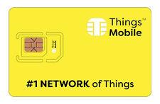 SIM Card Things Mobile per IOT, M2M, GPS tracker, ecc. con 10 € di credito