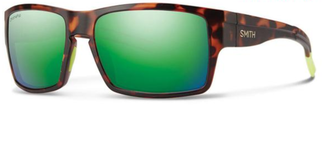 9ec685de655 NEW Smith Outlier XL Sunglasses-Matte Tortoise Neon-Green Chromapop  Polarized!