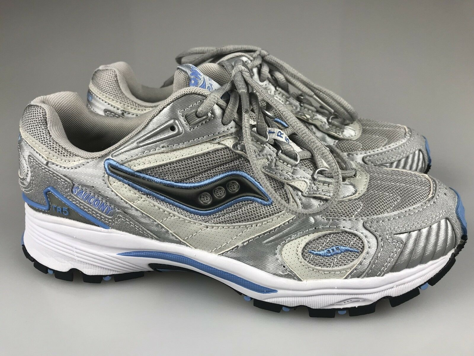 Saucony Blue/Silver Grid Aura TR Baby Blue/Silver Saucony Running Cross Training Shoes Womens 11 fc4587