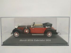 1-43-HORCH-853A-CABRIOLET-1938-COCHE-DE-METAL-A-ESCALA-SCALE-CAR-DIECAST