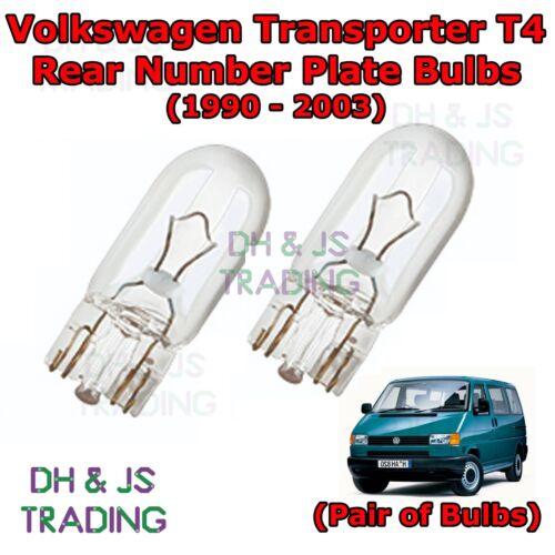 Volkswagen Transporter Rear Number Plate Bulbs Reg Plate Bulb Lights T4 90-03