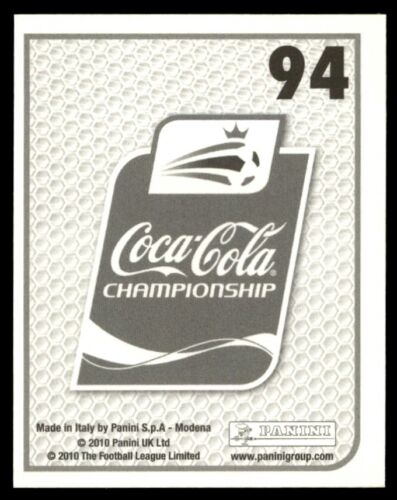 PANINI Coca-Cola Championnat 2010-Neal Eardley INTERNATIONALS part 1 no 94