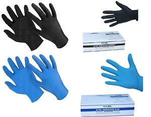 Nitril Einweghandschuhe Einmalhandschuhe puderfrei S-2XL Blau & Schwarz Box a100