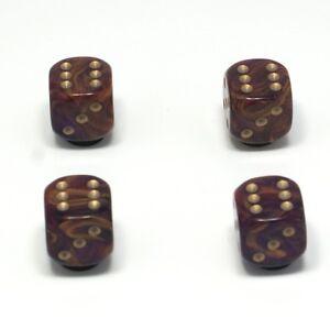 Set-of-Four-Purple-Goldmist-Dice-Dust-Caps-X4-80-039-s-Retro-Valve-Caps-BMX-VW